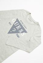 GUESS - Long sleeve guess tee - grey