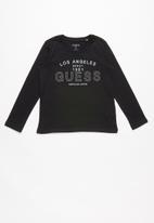 GUESS - Long sleeve guess Los Angeles tee - black