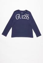 GUESS - Long sleeve guess tee - blue