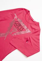 GUESS - Teens long sleeve popstar tee - rose