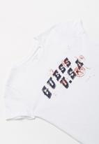 GUESS - Teens short sleeve guess USA tee - white
