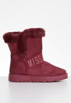 Miss Black - Rae boot - burgundy