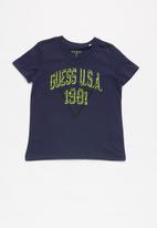GUESS - Short sleeve guess USA 1981 tee - navy