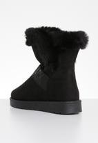 Miss Black - Flat boot - black