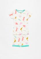 Cotton On - Chloe short sleeve girls pj set - multi