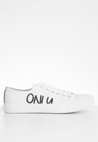 ONLY - Suri canvas sneaker - white