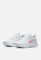 Nike - Nike legend react - white & hyper pink half blue - black