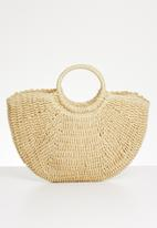 STYLE REPUBLIC - Straw top handle bag - sand