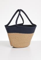 STYLE REPUBLIC - Two-tone tote bag - navy & beige