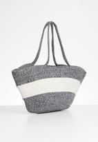 STYLE REPUBLIC - Two-tone tote bag - navy & cream