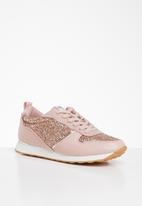 ONLY - Sillie glitter sneaker - pink & gold