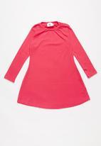 Rebel Republic - Long sleeve dress - pink & navy