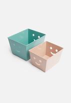 Sixth Floor - Smile box set of 2 - pink/turquoise