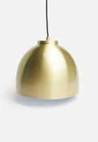 Sixth Floor - Dome pendant - brass