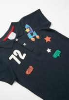 POP CANDY - Printed golf shirt - navy