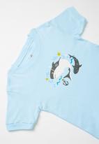 POP CANDY - Shark print pj set - blue