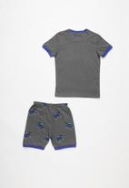 POP CANDY - Jeep print pj set - grey & blue