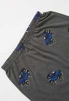 POP CANDY - Jeep print pj set - grey & blue