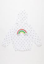 POP CANDY - Spot rain jacket - white