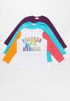 POP CANDY - Kids 3 pack long sleeve printed top - multi
