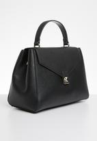 MANGO - Flap tote bag - black