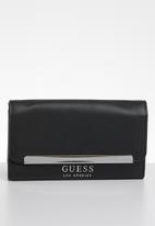 GUESS - Emmett flap purse - black