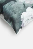 Grey Gardens - Velvet rose cushion cover - teal