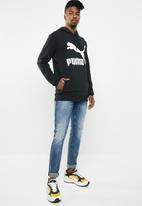 PUMA - Classics logo hoodie - black & white