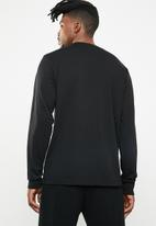 Diesel  - T-just-long sleeve-division top - black