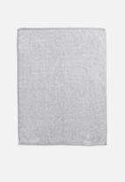 Linen House - Plush marle bath mat - grey