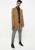 New Look - Smart overcoat - camel