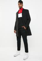 New Look - Smart overcoat - black