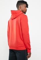 Nike - M nsw club hoodie po bb - red & white