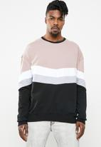 Superbalist - Cut & sew oversized colour blocked crew sweat - multi