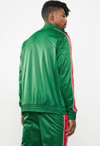 Superbalist - Side stripe tricot track bomber - green & red