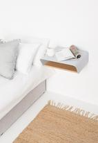 Emerging Creatives - Stockholm minima bedside table - light grey