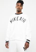 Nike - M nsw nike air crew flc - white & black