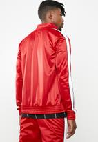 Superbalist - Stripe tricot track bomber - red & white
