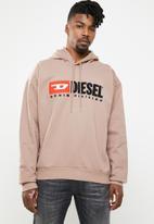 Diesel  - S-division hoodie - brown