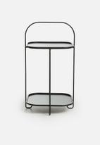 Present Time - Tray steel side table - black