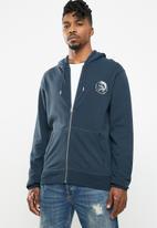 Diesel  - Brandon zip through hoodie - blue