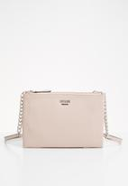 GUESS - Eddington mini double zip crossbody - pink