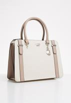 GUESS - Sandler satchel - cream & light taupe