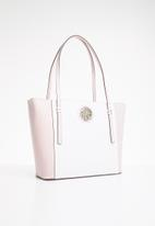 GUESS - Open road tote - pink & white