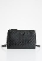 GUESS - Eddington mini double zip crossbody - black