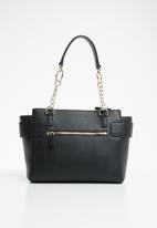 GUESS - Analise society satchel - black