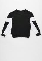 PUMA - Kids rebel crew sweat b - black