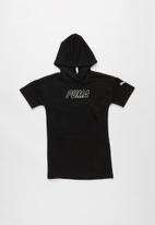 PUMA - Kids alpha hooded dress tr g - black
