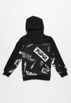 PUMA - Kids alpha aop hoodie - black