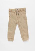 Cotton On - Logan cuffed pant - beige